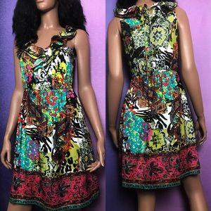 Boho Style Multicolor ECI dress